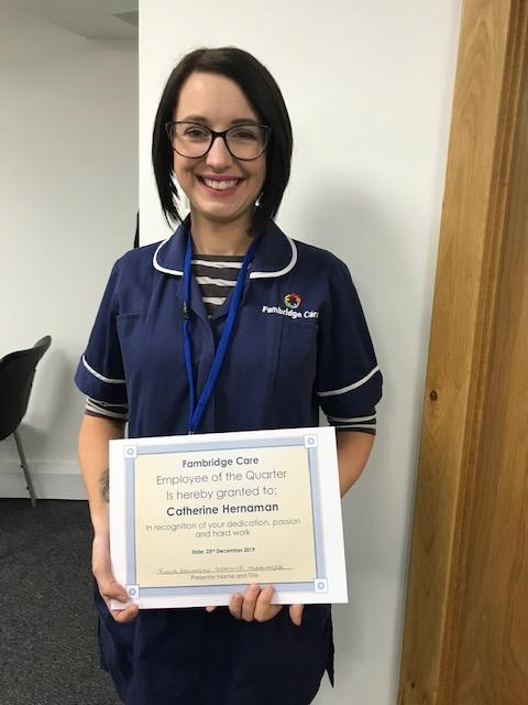 Fambridge Care quarterly awards